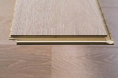 Trade Choice Easy Click Loc Engineered White 14/3mm x 190mm   brushed UV lacquer