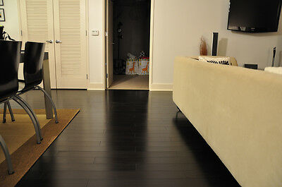 Trade Choice Solid Black Bamboo Carbonized 15mm x 115mm Oiled Wood Flooring