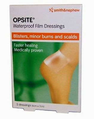 Opsite Waterproof Film Dressings 5 Dressings (6m x 7cm)**Free Post**