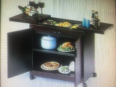 Phillips HL Series Heated Hostess Trolley 3 Dishes Top Good Condition