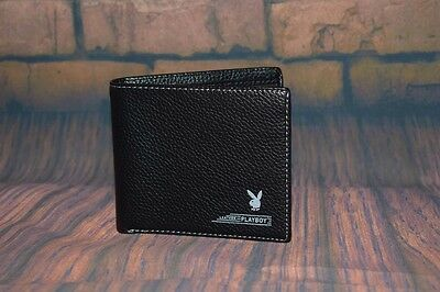 New PLAYBOY Men Bifold Black Leather wallet, without box