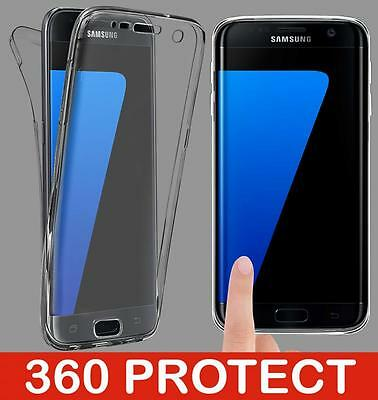 For Samsung Galaxy Models Full Body 360° Silicone Clear Gel Case Front & Back