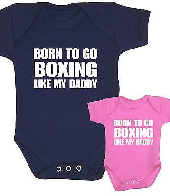 BabyPrem Baby Boys Girls Clothes BOXING Boxer Bodysuit Vest Shower Gifts Present