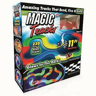 Magic Tracks Car Can Bend Flex Glow in the Dark Birthday Gifts for Children
