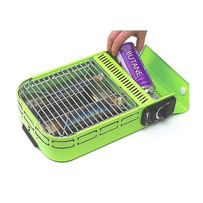 Compact Gas BARBECUE GRILL Plastic Carry Case Camping Hiking Cooking BBQ GRILLS