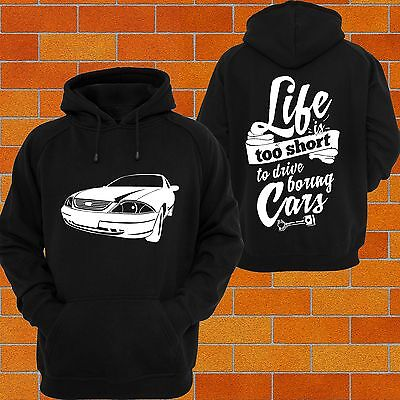 Hoodie FORD AU AUII Falcon Forte Turbo Race Drift Burnout Jumper Track T Shirt