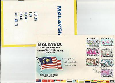 1966 Malaysia cover postally sent from Negri Sembilan to Singapore FDC