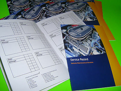 Blank Service History Book Suitable for Ford Fiesta Focus Fusion Ka Mondeo Cmax