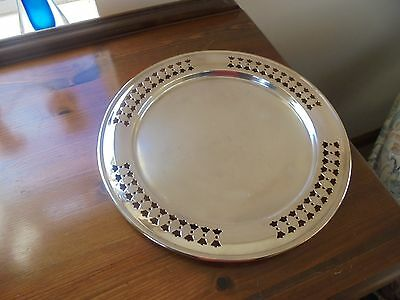 Vintage Yeoman Silver Plated Serving Tray