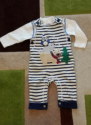 boys bluezoo outfit dungarees and top 3-6 months