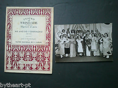 Rare-1967-Portugal-Trindade Theatre-D. Pasquali-Opera-Program+Crew Photo