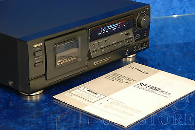 ►Aiwa Ad F850◄ Tape Deck 3 Head 2 Capstan Piastra Cassette +Manualevintage Top!