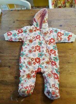 Girls snowsuit/pramsuit 3-6 months M&S
