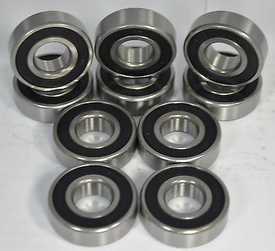 """6203-12-2RS C3 3/4"""" Bore Premium Sealed Ball Bearing 230-052 6203-2RS-3/4 Qty 10"""