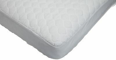 ABC Waterproof Quilted Crib(Toddler Bed) Matress Pad-Fitted White vinyl backing