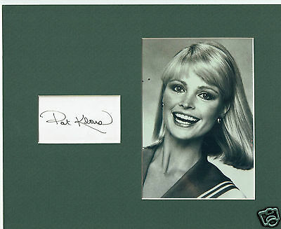 Pat Klous Actress Love Boat Hand Signed Card  Framed wit hPhoto 10 x 8