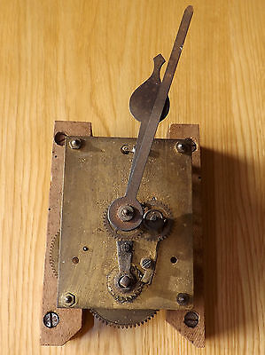 Antique/Vintage Spring Driven Dial Clock Movement with Hands