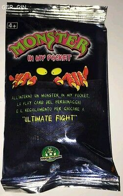 SEALED PACK + CARD Of MONSTER IN MY POCKET 2001 MIMP Bustina Sigillata Figure