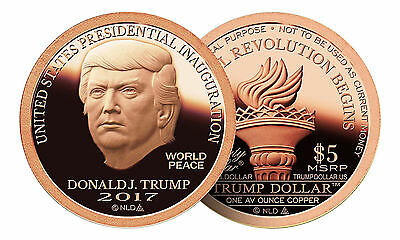 20 Coin Roll Lot Of 2017 Trump Dollar Inaugural 1 oz Copper USA Made Rounds