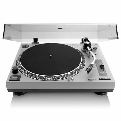 Lenco L3808 Vari Speed USB Turntable (grey)