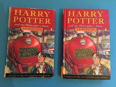Harry Potter and the Philosopher's Stone Hardback Book 1/4 Print First 1st Ed