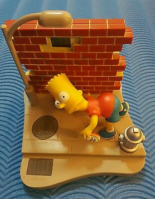 Rare Wesco 2000 El Barto The Simpsons Bart Alarm Clock Working VGC Collectible
