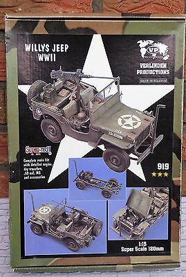 Resin Bausatz Willys Jeep WWII Verlinden Productions 1:15 # 919