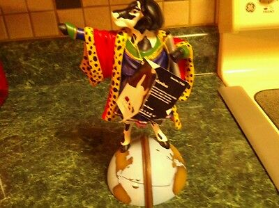 """Cow Parade """"Cowlumbus"""" statue Black/white 8"""" tall great shape.been stored"""