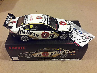 BIANTE 1/18 SIGNED CoA  JAMES COURTNEY JIM BEAM DICK JOHNSON RACING FORD FALCON
