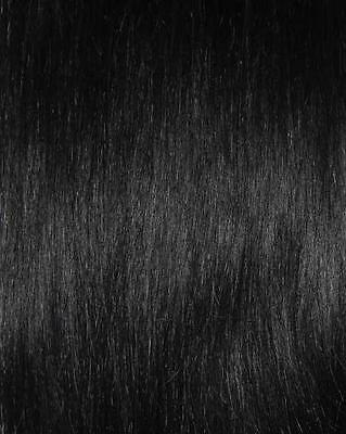 Double Drawn #1 Jet Black Clip In Hair Extensions - 20 inch length, 175G