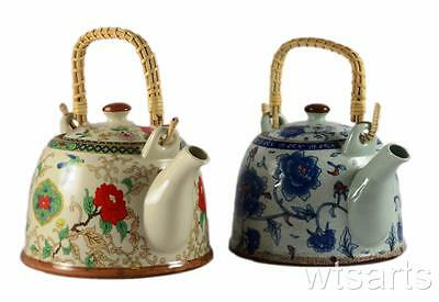 Flower Chinese Teapot, tea pot with Infuser. (choose from 2 colours)