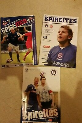 3 x Chesterfield Home Games Football Programmes