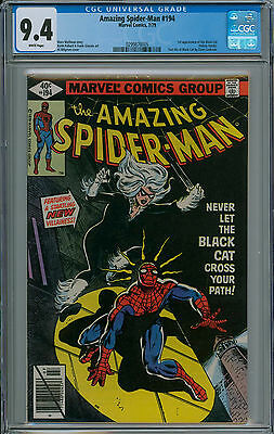 Amazing Spider-Man #194 CGC 9.4 1st appearance of the Black Cat, Felicia Hardy