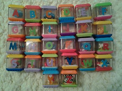 Fisher Price Peek A Blocks Complete Set 26 Alphabet  Leters Abc A-Z