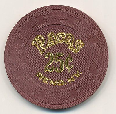 Pacos Reno 1St Issue $.25 Chip 1989