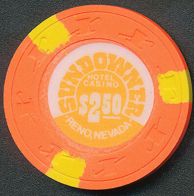 Sundowner Reno $2.50 Chip Orange 1980's