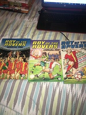 JOB LOT - Roy Of The Rovers Annuals 1980,1981 AND 1982 - VGC