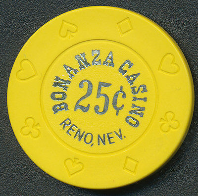 BONANZA CASINO RENO $.25 CENT CHIP 1990's