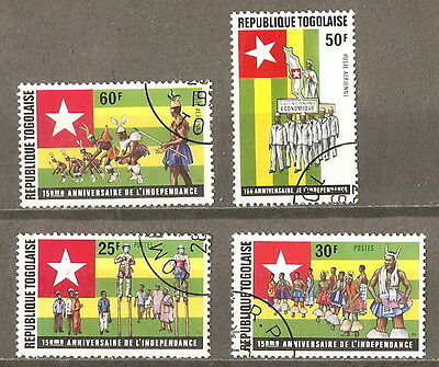 TOGO 1975  '' 15th ANNIVERSARY OF INDEPENDENCE '' SET POST+AIR USED