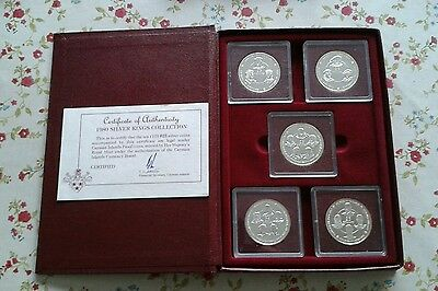 1980 Cayman Islands Kings Collection 10 Silver Coins