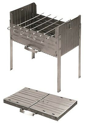 Mangal Barbecue Grill with skewers Made in Russia Stainless steel