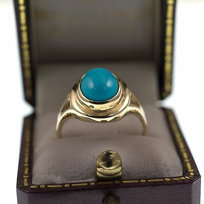 Beautiful Vintage Turquoise Ring - 9Ct Gold - Vintage & Antique Jewellery