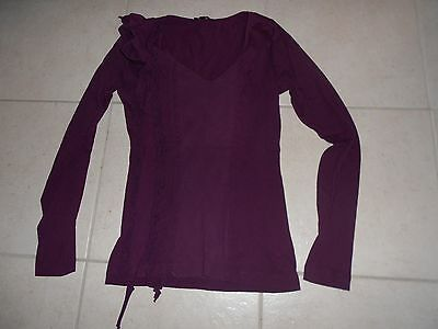 Tee shirt manches longues violet T1