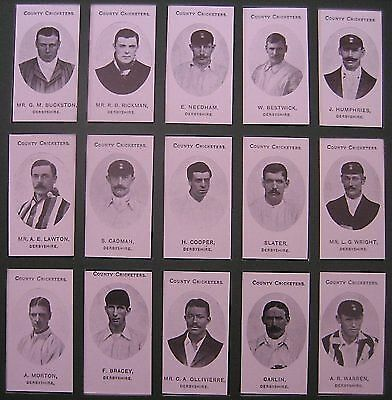 County Cricketers Card Set Taddy Nostalgia Reprints Surrey
