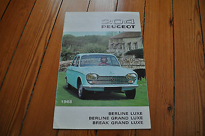 Brochure Prospekt Catalogue Dépliant Prospectus 1968 PEUGEOT 204 French