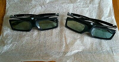 Sony TDG-BT400A 3d active glasses x 2 immaculate condition