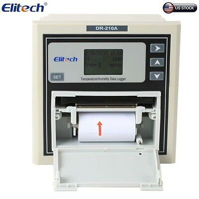 Elitech DR-210A Temperature and Humidity Data Logger Recorder Alarm Printing