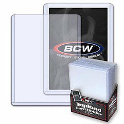 100 BCW 3x4 STANDARD-SPORTS-CARD-TOPLOADERS-BASEBALL FOOTBALL Free Shipping
