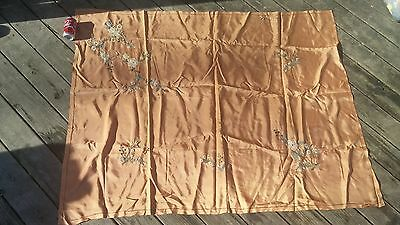 Early 20C Chinese Silk Embroidery Textile Panel Screen flowers