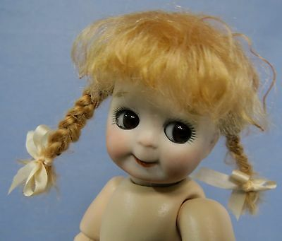 """21Cm (8.5"""") Jdk 221 Googly Girl On A Jointed Toddler Body Undressed Reproduction"""